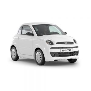 Microcar Due dynamic, premium blanco front